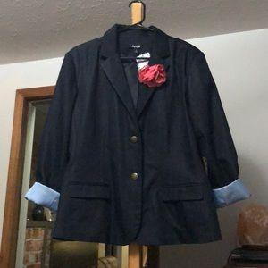 Shiny navy blazer